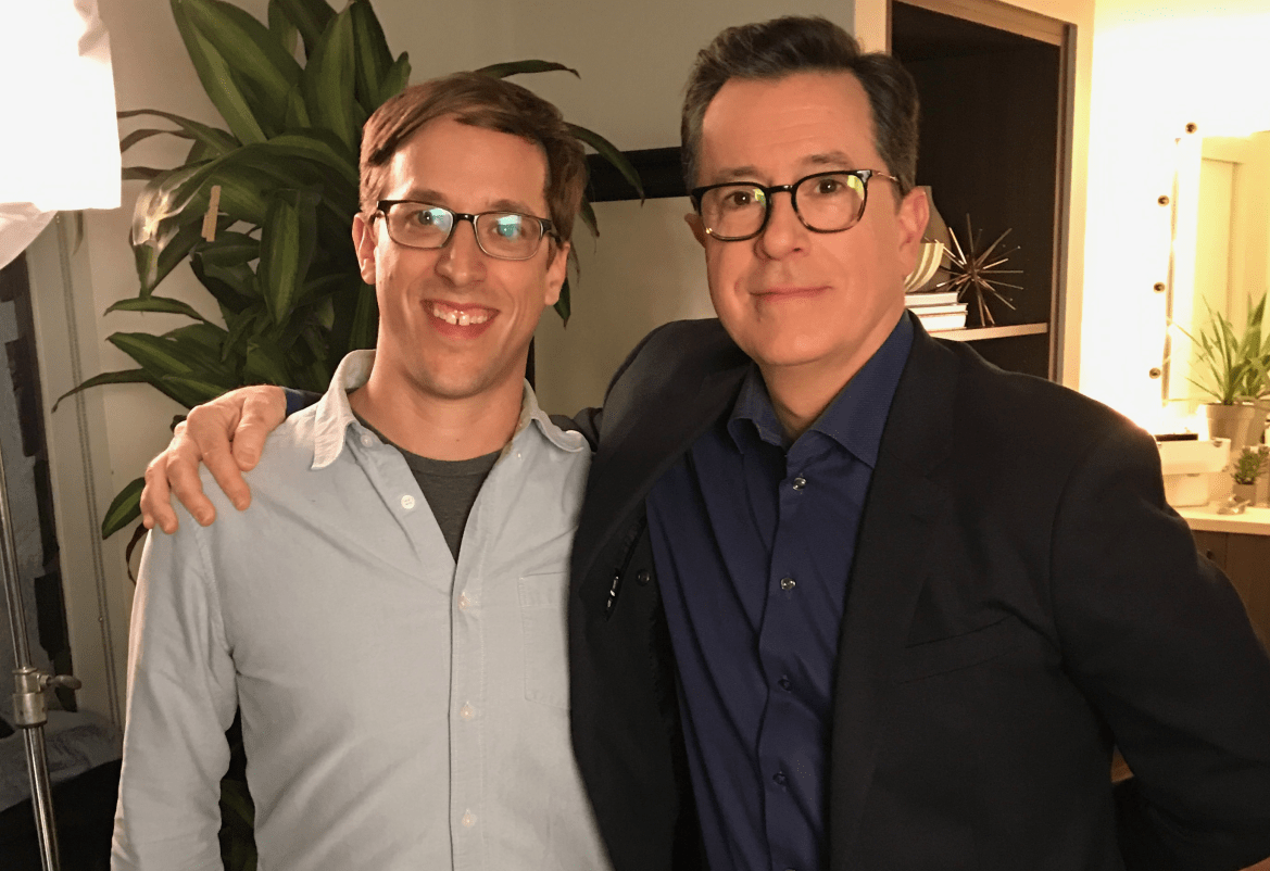 "Josh Greenbaum '01, left, wrote and directed a documentary about a show that ""spectacularly failed"" despite a cast that featured Stephen Colbert and many other comedic greats."