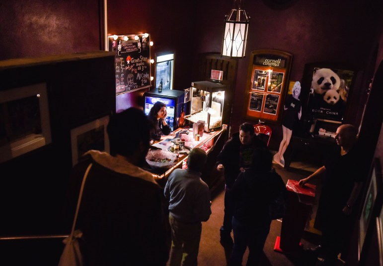 """Visitors line up at the box office for Tuesday's """"Night of the Living Dead"""" film screening. The undergraduate student activity fee has accounted for 26 percent of the Cinema's budget this year, which pays for film rentals, screenings, maintenance costs and staff."""