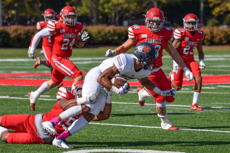 Following two stellar defensive performances by Cornell, Bucknell was able to put up 306 yards Saturday.
