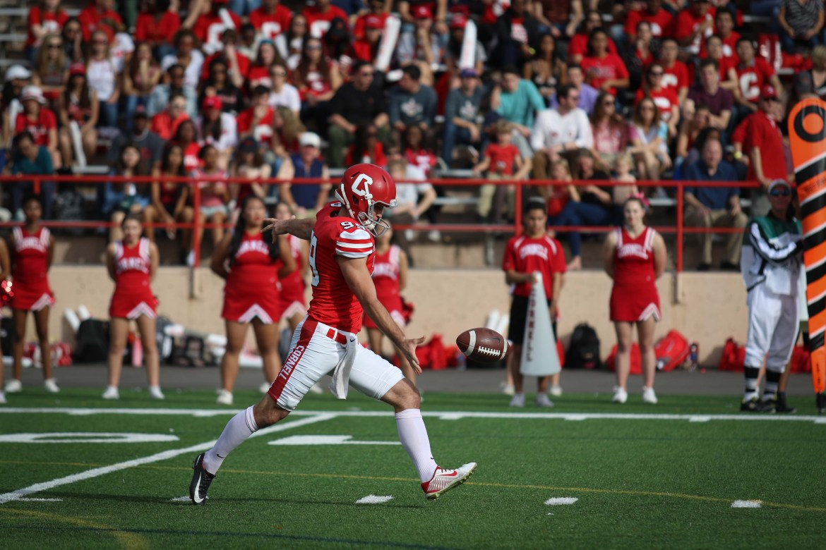 Nickolas Null, a trained punter, has taken on kicking duties, earning him Ivy Special Teams Player of the Week for two Mondays in a row.