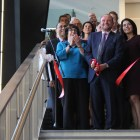 David Breazzano MBA '80 marks dedication of Breazzano Family Center in Collegetown with formal ribbon cutting ceremony.