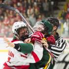 In a fiery affair, Cornell dropped its first game of the season to Clarkson, 4-0.