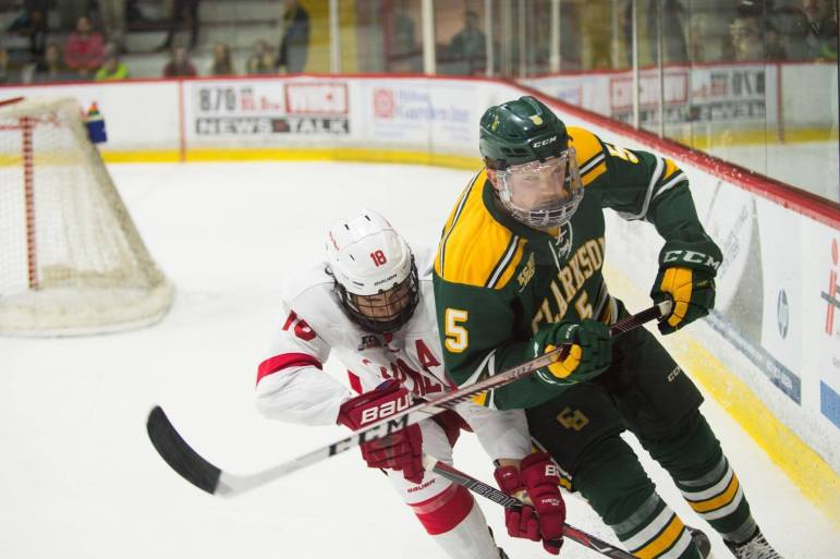 The Cornell men's hockey team's hot start came to a close Saturday night with a 4-0 loss to Clarkson in a battle of top-10 teams at Lynah Rink. The Big Red was the nation's final team to suffer its first loss after the program's best start in 36 years