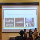 Students present at the Beyoncé Nation Class Group Presentations on Thursday.