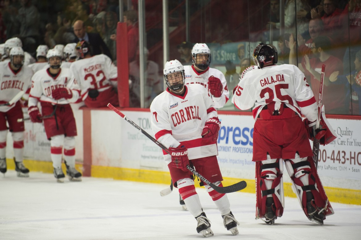 Freshman goalie Matt Galajda and the Red have two key matchups this weekend at Lynah.