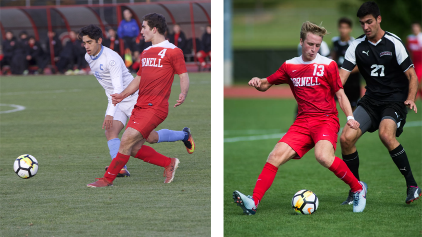 Left: Freshman defender Richie Hrncir   Right: Freshman midfielder Tommy Hansan