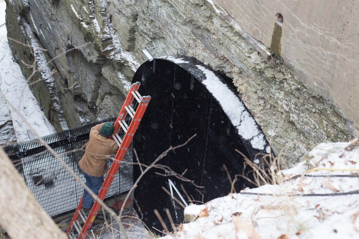 After months of debate, Cornell gated off the entrance to Ezra's Tunnel, a cavern built by the University's founder.