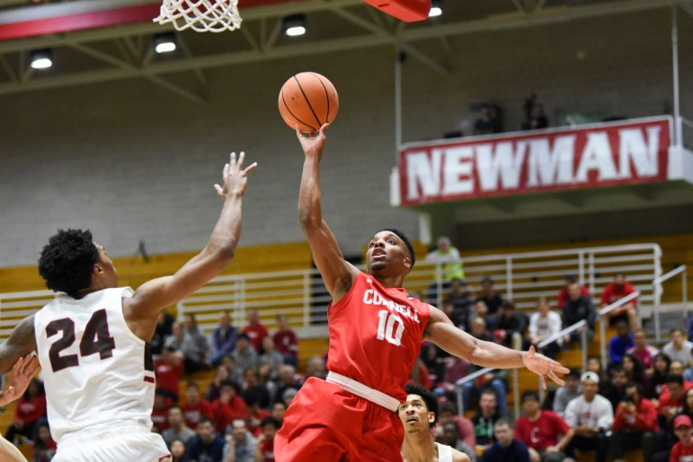 The Red delivered on Senior Night, defeating Brown to stay in contention for Ivy Tournament qualification. (Boris Tsang/Sun Staff Photographer)