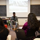 Malcolm X discussion at Morill Hall on February 25th, 2018.