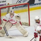 Junior goaltender Marlène Boissonnault's 48 total saves over both games were a critical component of the Red's weekend success.