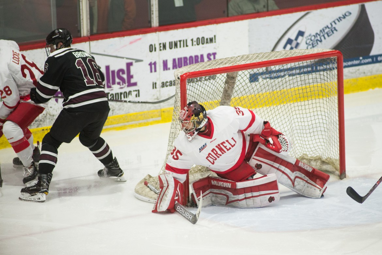 Freshman goaltender Matt Galajda is the first Cornell men's hockey freshman to earn All-American honors.