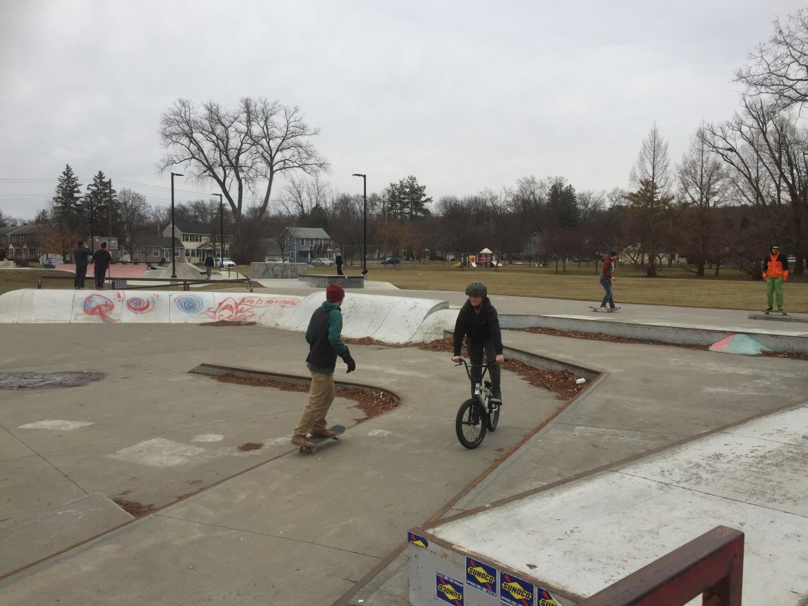 Police urged anyone with information about the vandalism at the Ithaca Skate Park to contact the department.