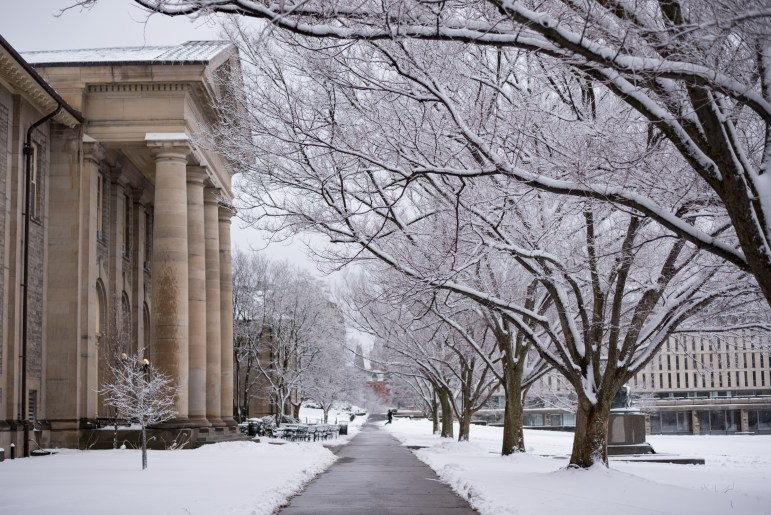 Cornell cancelled all classes on Friday in anticipation of a snow storm. (Alice Song/Sun Staff Photographer)