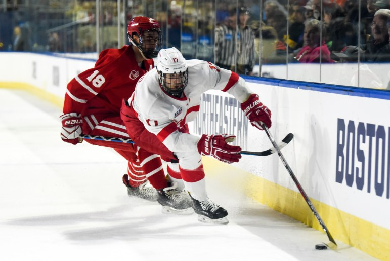 In a disappointing end to a strong season, the men's hockey team was eliminated in the first round of the NCAA tournament, losing 3-1 to Boston University.