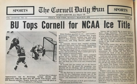 Cornell takes on its longtime rival in the NCAA tournament for the first time since 1972 this weekend.