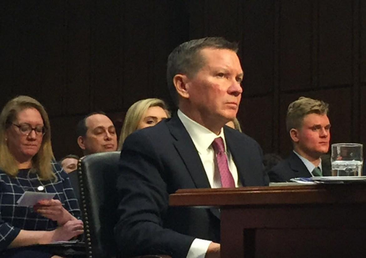Michael Atkinson J.D. '91 at his nomination hearing.