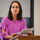 Prof. Rosa Ficek '03, anthropology, of the University of Puerto Rico at Cayey explored the current political climate of Puerto Rico and the nature of its relationship with the United States.