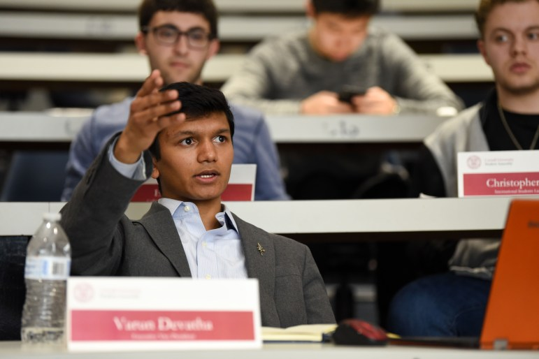 Varun Devatha '19, one of two Student Assembly presidential candidates, was previously disqualified.