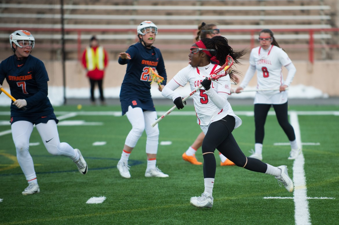 A strong offensive showing, which included contributions from nine different players, powered Cornell to a decisive 15-7 win over Binghamton — snapping a three game losing streak.