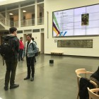 The box sat in the middle of Klarman Atrium for around 45 minutes.