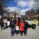 Cornellians and Ithaca residents participated in the nationwide March for Our Lives on Saturday, March 24 to protest gun violence.
