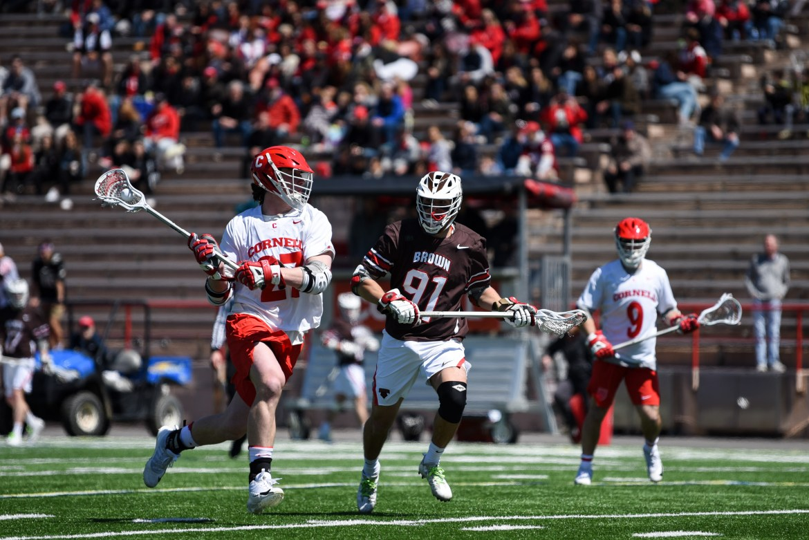 The first task ahead for Cornell is third-seeded Brown, a team it beat by 14 goals less than two weeks ago.