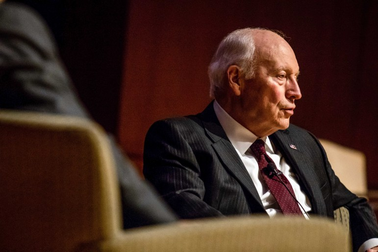 Former Vice President Dick Cheney defends the George W. Bush administration's decisions and discusses his views on the current administration at a talk hosted by the Cornell Republicans.