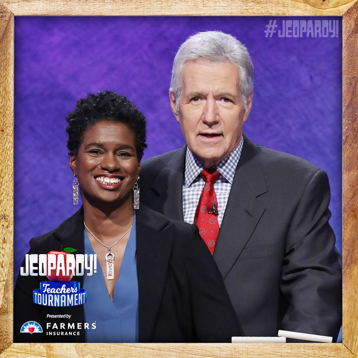 Erika Eason '95 is competing in the Jeopardy! Teachers Tournament this week.