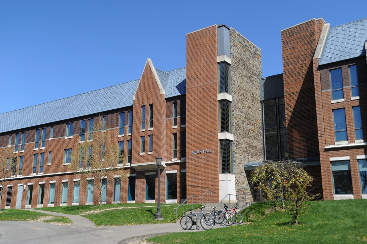 The east side of Mews Hall's first floor has the capacity to house approximately 30 students.