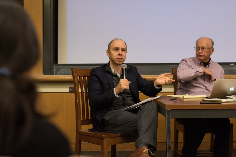 Prof. Jeremy Wallace, government, was one of three professors who hosted a discussion on the detainment of Muslim Uyghurs in Xinjiang, China on Monday. (Alice Song / Sun Staff Photographer)