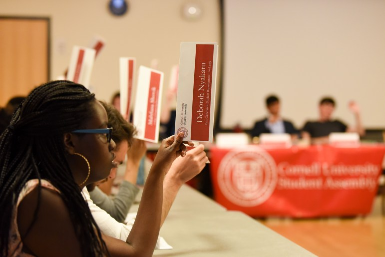 Student Assembly gathers in RPCC on Thursday. (Boris Tsang / Sun Assistant Photography Editor)