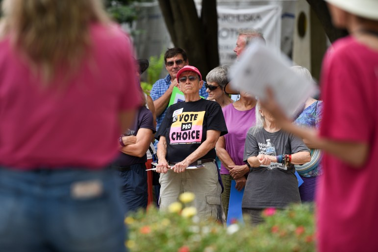 Last Sunday, Ithaca residents gathered at the Commons to rally for female reproductive rights.
