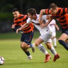 Men's soccer vs. Syracuse on September 10th, 2018. (Boris Tsang / Sun Assistant Photography Editor)