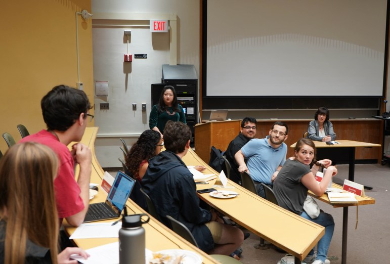 At Monday's Graduate and Professional Student Assembly meeting, President Martha E. Pollack outlined the University's initiatives regarding diversity, inclusion and mental health. (Jing Jiang / Sun Staff Photographer)