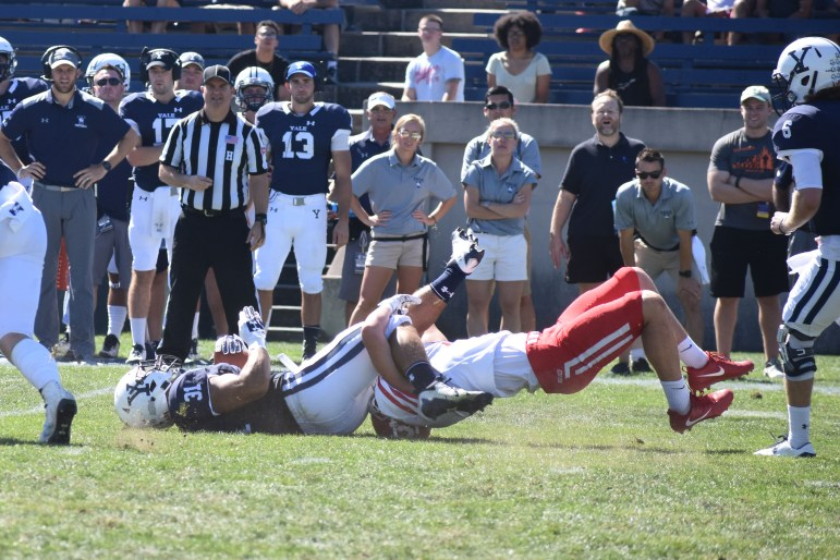 Yale blasted by the Red when the two met last year by a score of 49-24.