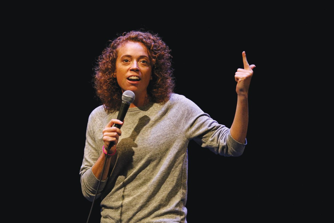 Michelle Wolf discussed large issues such as immigration and gender equality at Bailey Hall on Saturday.