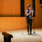 Andrea Gibson is the inaugural winner of the Women of the World Poetry Slam, third place winner of the Individual World Poetry Slam in 2006 and 2007, and fourth place winner of the 2004 National Poetry Slam.