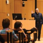 Prof. Daniel Ziblatt lectures on the decline of American democracy in Klarman Hall.