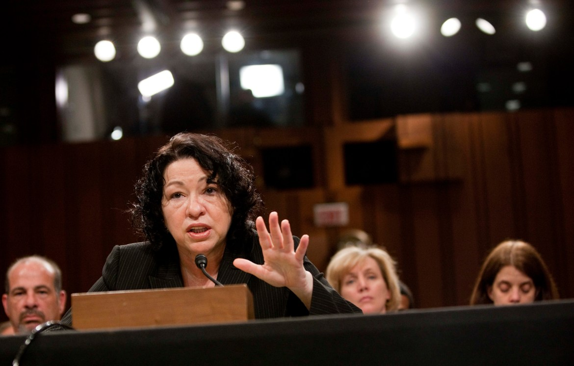 Supreme Court Justice Sonia Sotomayor during her confirmation hearing before the Senate Judiciary Committee in 2009.