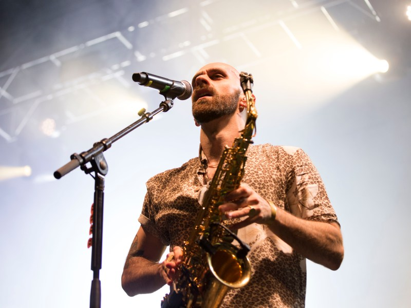 Sam Harris performs at 2018's Cayuga Sound with X Ambassadors.
