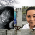 Prof. Bambi Haggins, left, and Prof. Racquel Gates will address contemporary black media at the Schwartz Center.