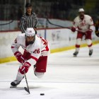 Sophomore forward Tristan Mullin had the Red's seventh goal on Sunday.
