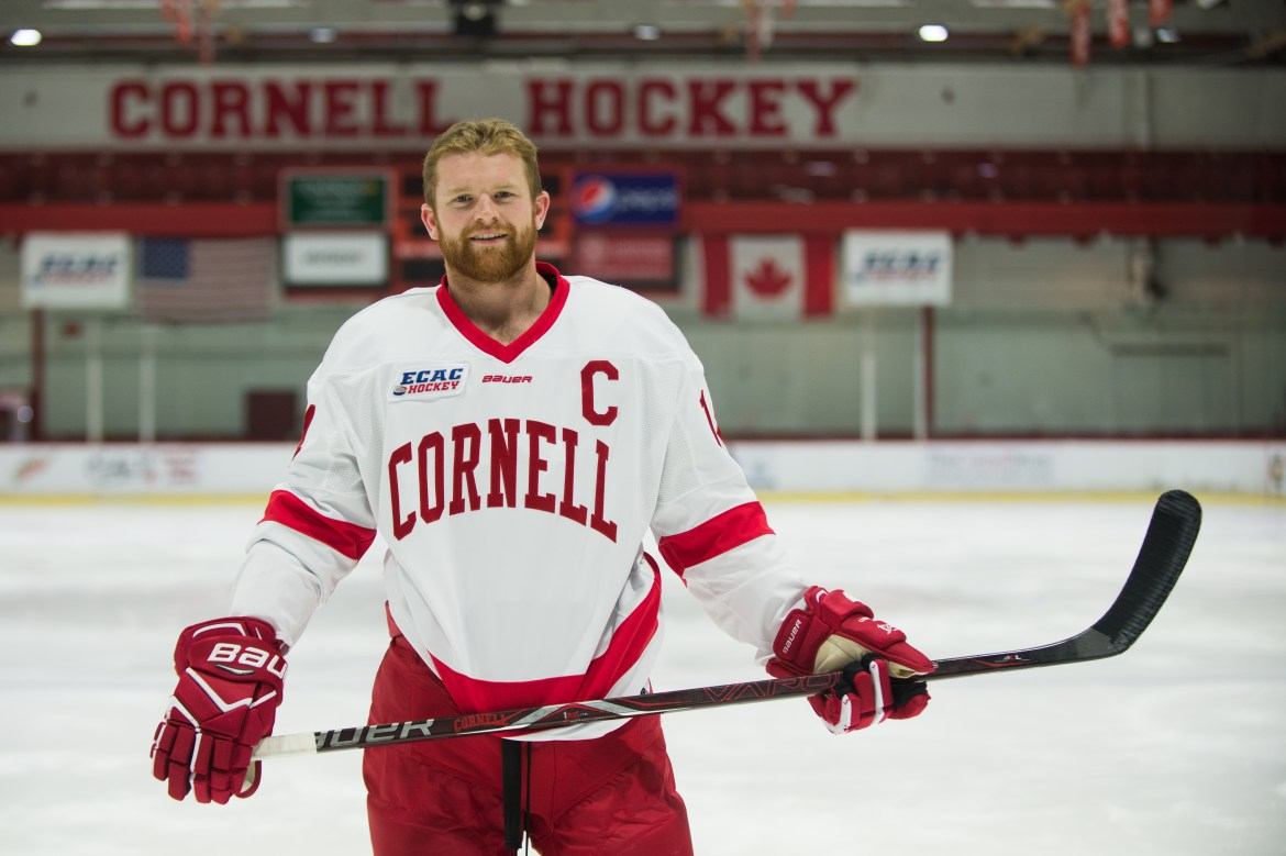 Senior forward Mitch Vanderlaan will once again serve as captain for Cornell men's hockey.