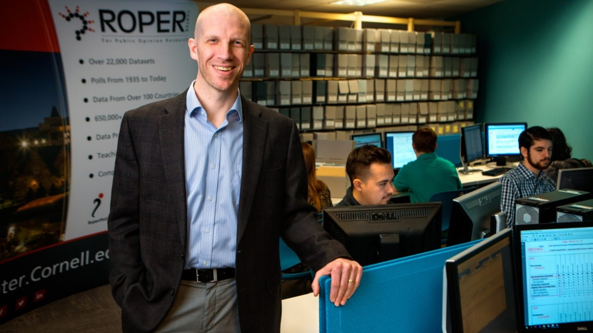 Peter Enns, the director of the Roper Center for Public Opinion Research. The Roper Center recently received a $1.43 million grant to construct a health opinion database.