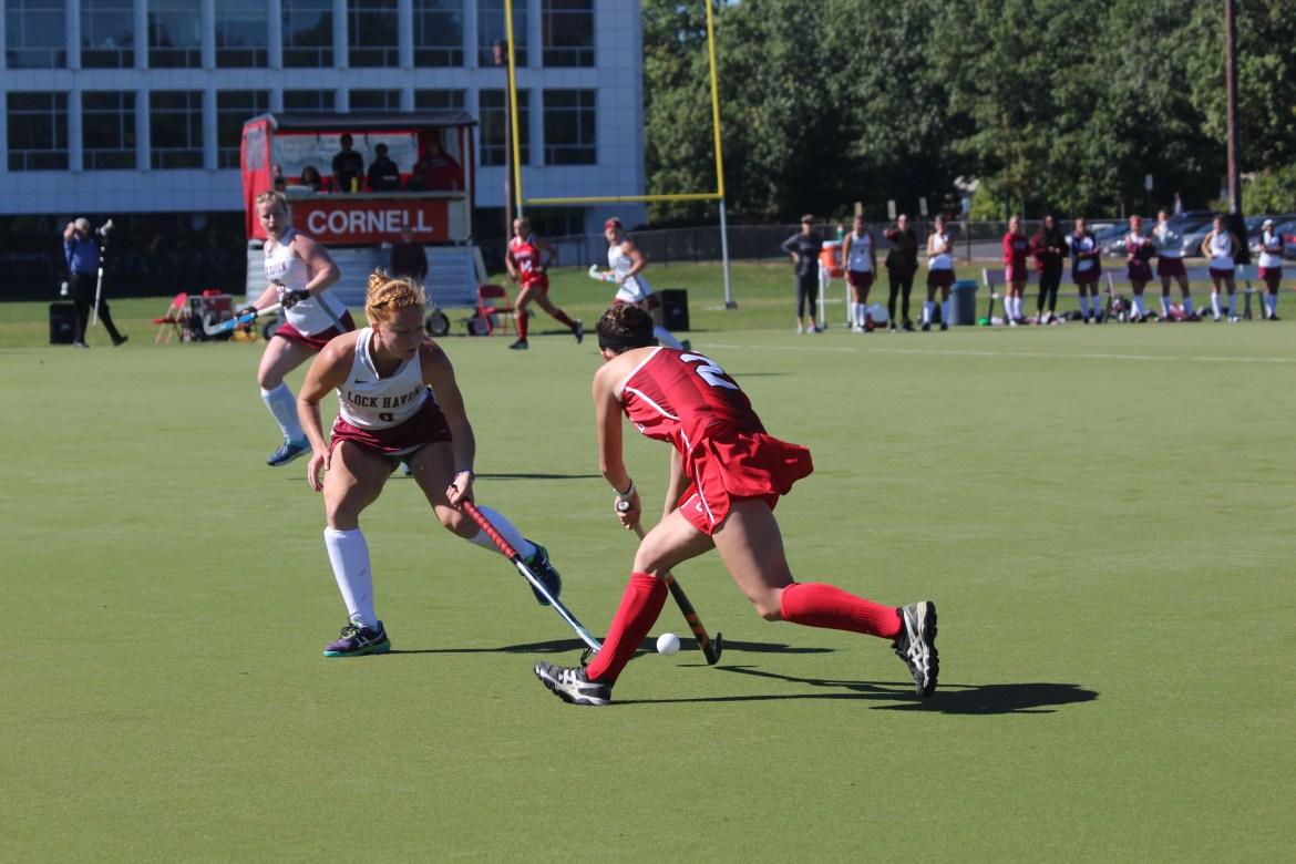 The Big Red fell to Harvard 0-8 this weekend continuing their winless Ivy season. (Corinne Kenwood/ Sun Staff Photographer)