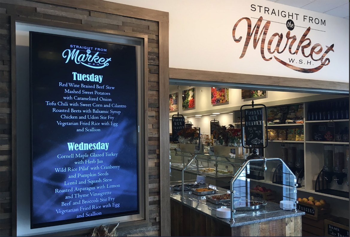 Straight from the Market is a new cafe above Okenshield's in Willard Straight Hall.