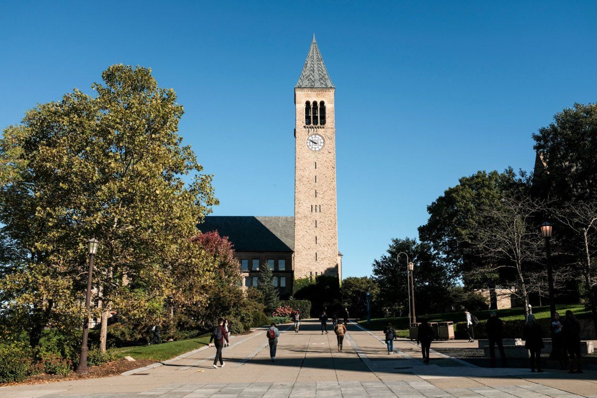 A duet of whale songs and chimes will be performed atop McGraw Tower on Friday evening.
