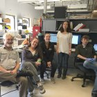 Members of the lab foster a collaborative working environment.