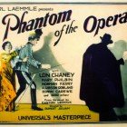The poster of the 1925 movie Phantom of the Opera.