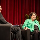 Supreme Court Justice Sonia Sotomayor spoke at Bailey Hall on Thursday. Sotomayor encouraged students to take action to change the world for the better and recalled her experiences as a student at Princeton and as a judge later on. (Michael Wenye Li / Sun Photography Editor)